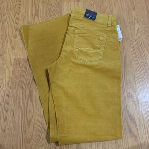 TOMMY HILFIGER yellow pants size 8 NWT